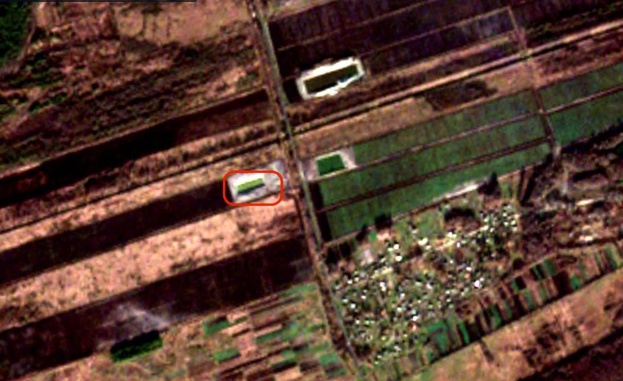 Супутниковий знімок датований кінцем грудня 2019 року з ставком ТОВ «Бугагро». Джерело — eos.com