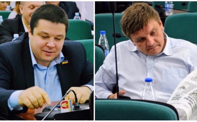 Заступник міського голови Костянтин Петрочук та депутат Сергій Була. Фото із www.volyn24.com