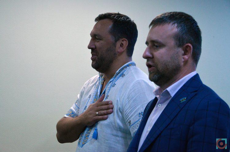Головний «рухівець» Віктор Кривенко із волинським «рухівцем» Дмитром Климуком