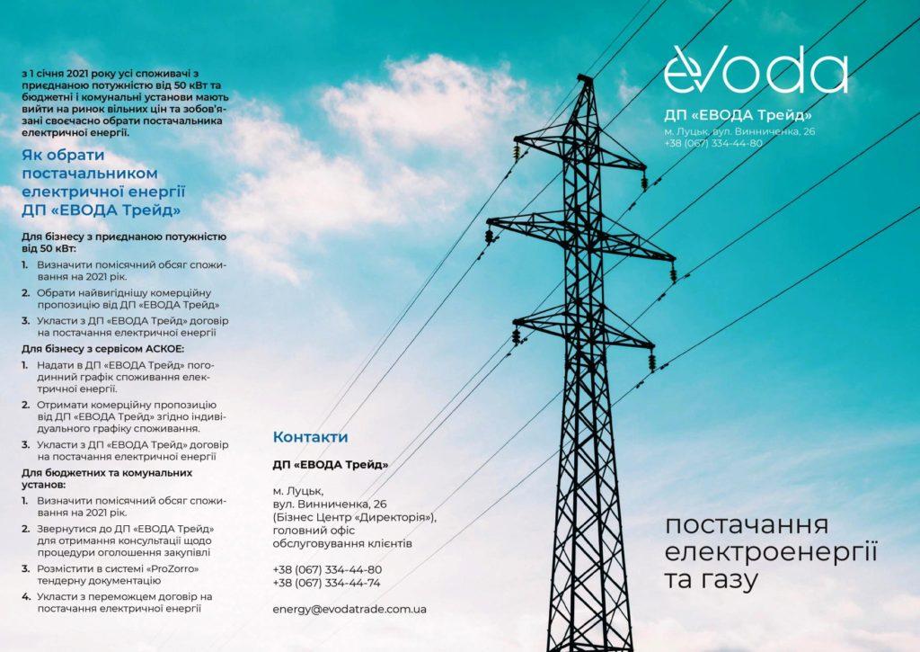 EВОДА постачання електроенергії (зі сторінки Фейсбук)