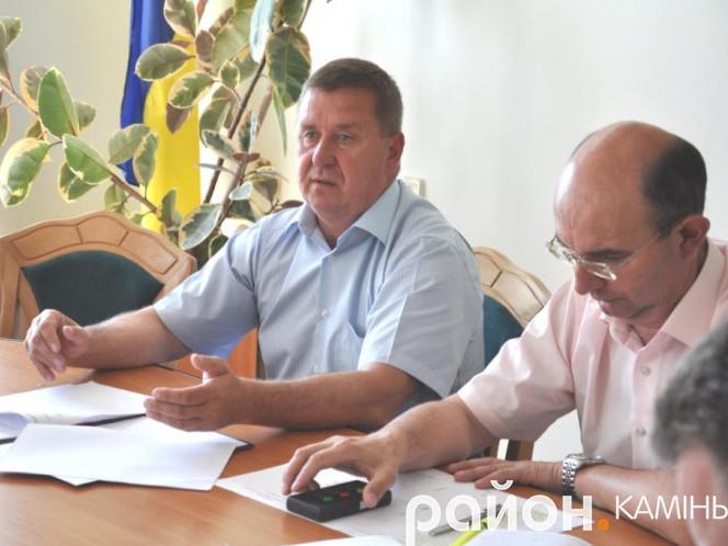 Голова Камінь-Каширської районної ради Віктор Сус заступник Сергій Дмитрук