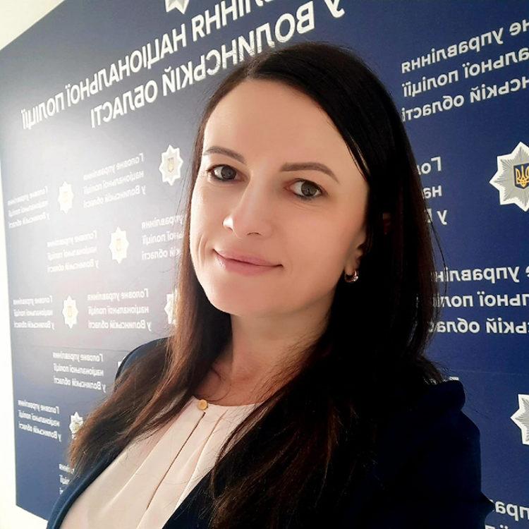Ольга Бузулук Національна поліція у Волинській області прессекретарка