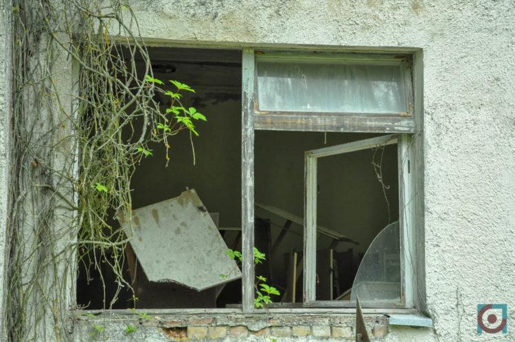 Прип'ять, вибиті вікна