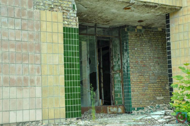 Прип'ять, зруйнована будівля
