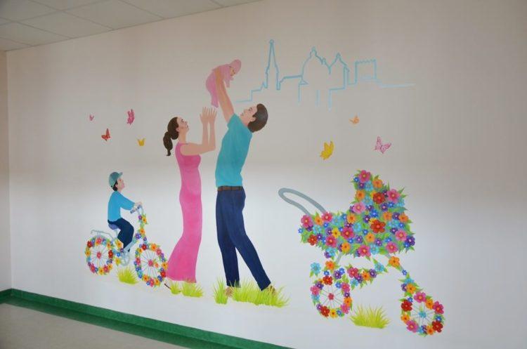 Фонд Тільки разом розмальовані стіни перинатального центру